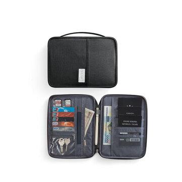 IPRee® Poliestere Passport Borsa Porta carte di credito da viaggio Porta carte di credito multifunzione impermeabile Borsa