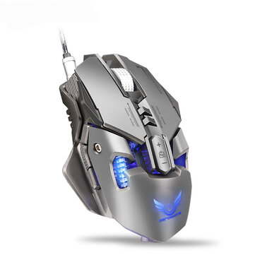 Zerodate X300GY Mechanical Macros Define Gaming Mouse 250-4000 DPI 7...
