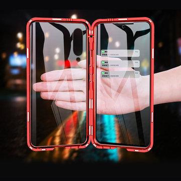 Bakeey 360º Avant + Arrière Double Face Corps Complet 9H Verre Trempé Métal Adsorption Magnétique Flip Etui De Protection Pour Xiaomi Mi 9 / Xiaomi Mi9 Édition Transparente