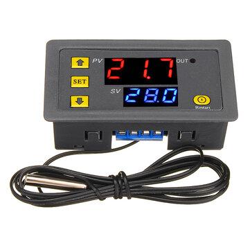 Geekcreit® W3230 DC 12V / AC110V-220V 20A LED Termostato termoregolatore digitale Termometro Misuratore sensore interruttore di controllo temperatura