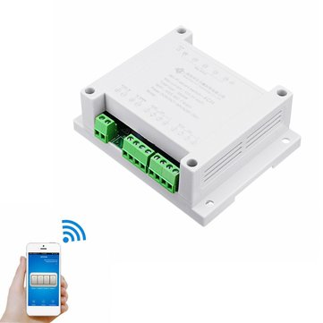 AC 220V 10A Control Smart Switch Point Remote Relay 4 Channel WiFi Module With Shell