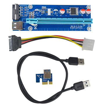 Segotep 0.6m USB 3.0 PCI-E Express 1x To 16x Extension Cable Extender Riser Card Adapter for Mining