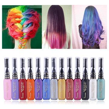 13 Colors DIY One-Time Hair Mascara Dyes Temporary Non-Toxic Disposable Hair Cream