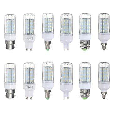 E27 e14 e12 b22 G9 gu10 6w 56 SMD 4014 LED branco morno branco da tampa de milho lâmpada de luz lâmpada 220V AC