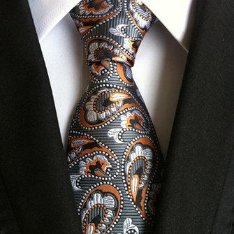 Đàn ông kinh doanh Retro Jacquard Lưới Tie Tie chính thức