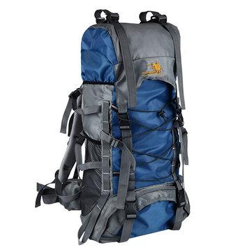 60Lアウトドアトレッキングバックパック防水Nylonトラベルバッグキャンプバッグ