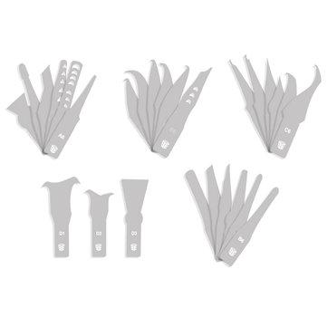 27-piece Blades set For BEST BST-69A CPU Cutter