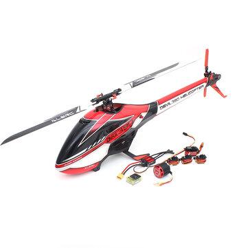 ALZRC Devil 380 FAST FBL 6CH 3D Flybarless RC Helicóptero Super Combo Con motor ESC Servo Gyro