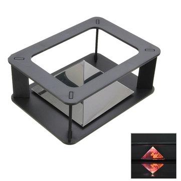 DIYホログラフィック3DディスプレイCabintプロジェクターボックスSamsung用iPhone HTCスマートフォン