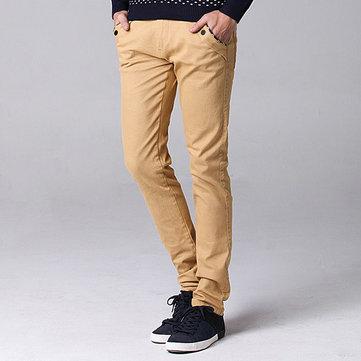बड़ा आकार 30-44 फैशन कोरियाई आरामदायक सीधे स्लिम पैंट पुरुषों के ठोस रंग पतलून