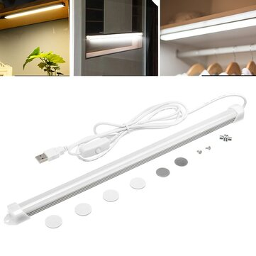 32CM 5W USB LED Rigid Strip Bar Tube Light Kitchen Cupboard Under Cabinet Lamp with Switch
