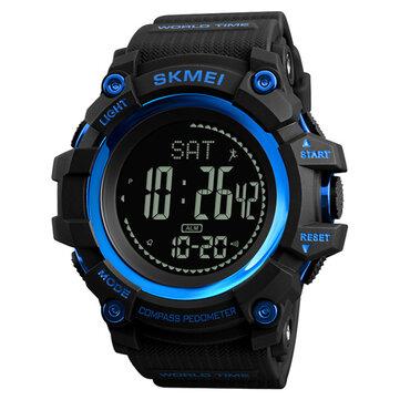 SKMEI 1356 Brújula Podómetro Calorie Reloj deportivo Cronógrafo Hora mundial Cronómetro Reloj digital