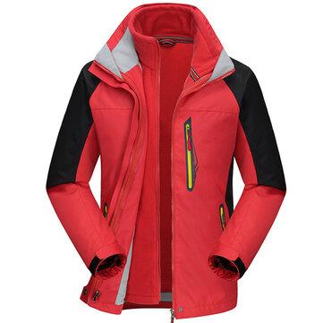1 निविड़ अंधकार विंडप्रूफ सांस लेने योग्य फ्लीस हुड जैकेट में पुरुषों आउटडोर खेल 2