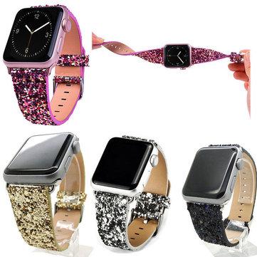Montre Glitter Bande Remplacement Pour Apple Watch Série 1 38mm / 42mm