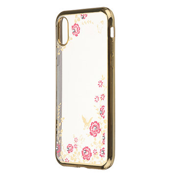 Bakeey™ Flowers Translucent Shockproof Soft TPU Back Cover Protective Case for iPhone X XS