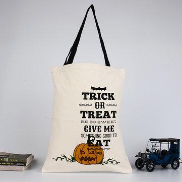 Halloween Bag Canvas Party Halloween Handbag Pumpkin Candy Gifts Bag