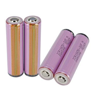 4pcs 3.7V ICR18650-26HM/FM 2600mah Button Top Protected 18650 Li-ion Battery