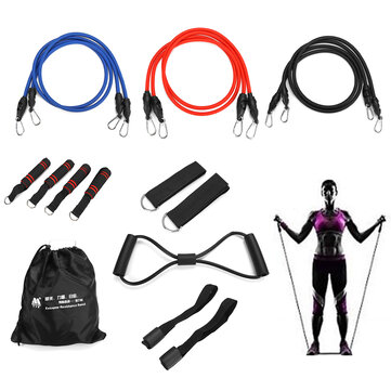 16PCS Men Home Resistance Bands Set Fitness Rubber Tubes Stretch Training Yoga Elastic Pull Rope
