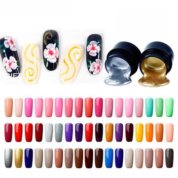 Buy Classical Flower Carving Painted Nail Polish 5ml for UV LED Lamp with Litecoins with Free Shipping on Gipsybee.com