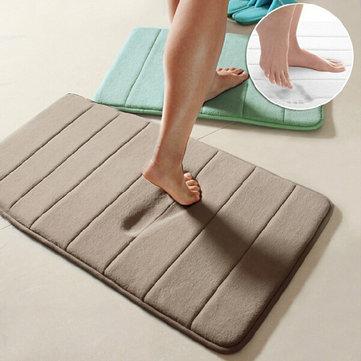 Honana WX-336 New Thickened Coral Velvet Memory Foam Slow Rising Rug Bathroom Mat Soft Non-slip Plush Floor Carpet