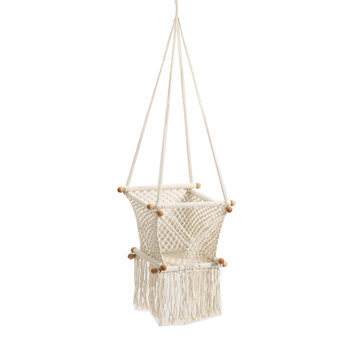 Buy 50KG Bearing Patio Swings Weaving Basket Hanging Chair Cotton Rope For Children Room Backyard Garden with 9 on Gipsybee.com