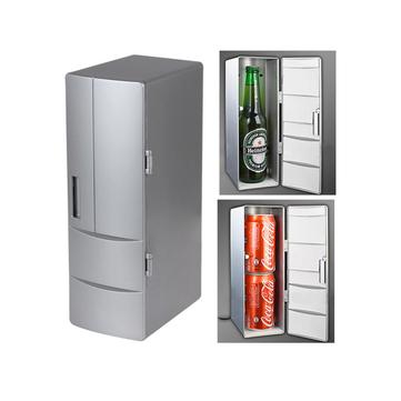 Buy USB Mini Fridge Portable Refrigerator Beverage Drink Can Cooler Warmer Freezer with 3 on Gipsybee.com