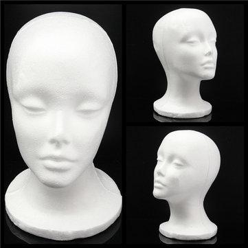 Foam Styrofoam Mannequin Cap Hair Wig Display Holder Female Head Model Hats Jewellery