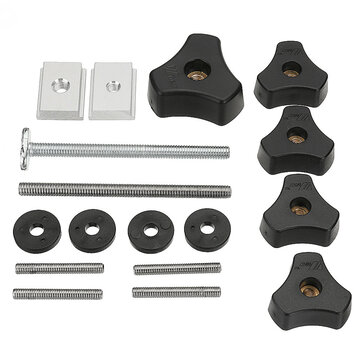 Drillpro Woodworking Tool Accessary Quick Action Hold Down Clamp Handle Nut for T-Slot T-Tracks