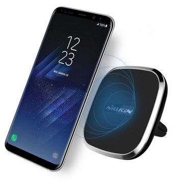 NILLKIN Soporte de ventilación Magnetic QI Wireless Coche Cargador 2 Model B For iPhone X 8Plus Oneplus5 S8