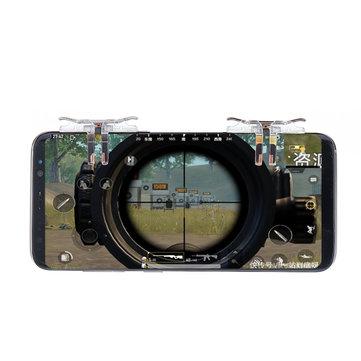 T12 L1R1 Controller Shooter Utlösare Fire Button Mål nyckel för PUBG för Survival Mobile Game