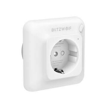 BlitzWolf® BW-SHP8 3680W 16A Smart WIFI Wall Outlet EU Plug Socket Timer Remote Control Power Monitor Work with Alexa Google Assistant IFTTT