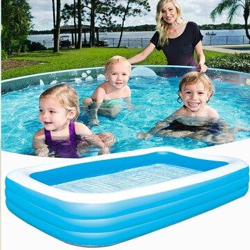 IPRee® 180*140*60cm/200*150*50cm/262*175*51cm Inflatable Swimming Pool Outdoor Garden Swimming Pool Portable Inflatable Pool