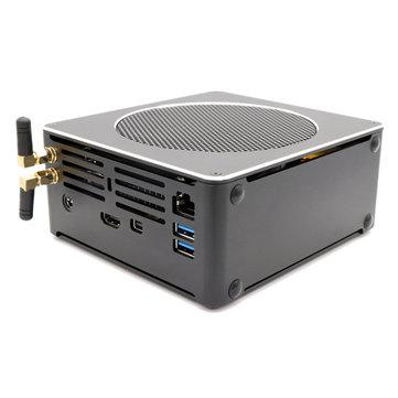 HYSTOU S200 Mini PC i5 8300H 8 Gen 8GB+128GB/8GB+256GB Quad Core Win10 DDR4 Intel UHD Graphics 630 4.0GHz Fanless Mini Desktop PC SATA mSATA MIC VGA HDMI 1000M WIFI