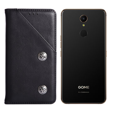 Buy Bakeey Vintage Flip with Stand Card Slots PU Leather Full Cover Shockproof Protective Case for GOME U7 5.99 inch with Litecoins with Free Shipping on Gipsybee.com