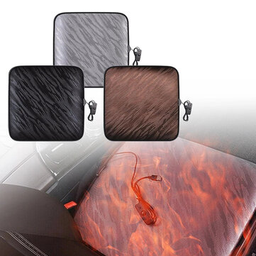 IPREE® 12V Heated Car Seat Cushion Cover Thickening USB Heating Warmer Chair Pad Automobiles Covers Mat