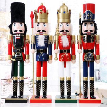 60cm Nut Cracker Soldier Christmas Decoration Nutcrackers Xmas Kitchen Wooden Doll