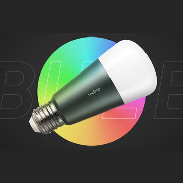 Realme AC120~250V RGBTW 9W E27 APP Bluetooth Smart LED Bulb Works with Amazon Alexa and Google Assistant