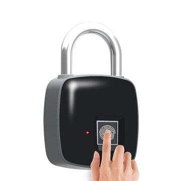 P3 Smart Fingerprint Door Lock Padlock Safe USB Charging Waterproof Keyless Anti Theft Lock
