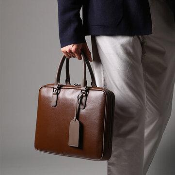 Ekphero Men Business Handbag Casual Multifunction Laptop Bag