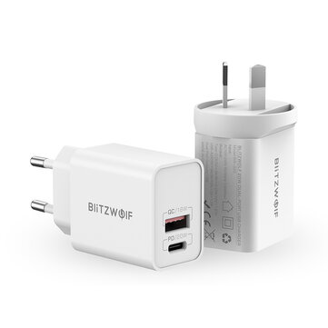 BlitzWolf® BW_S20 20W 2_Port PD3.0 QC3.0 Wall Charger Support PPS FCP SCP AFC Fast Charging EU AU Plug Adapter for iPhone 12 12 Mini 12 Pro Max for Samsung Galaxy Note S20 ultra Huawei Mate 40 Xiaomi Mi 10