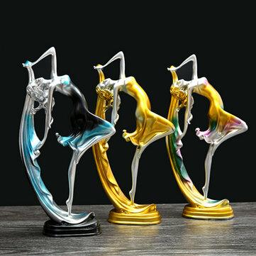 Elegant Dansflicka Dekoration Resin Art Deco Skulptur Abstrakt Staty Dekorationer