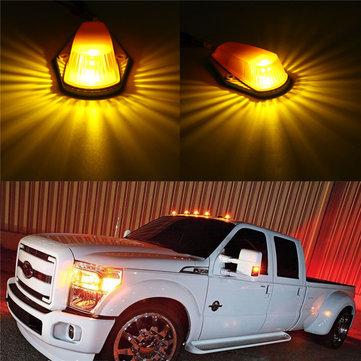 5 pcs Roof Light Housing dengan T10 Marker Clearance Lamp Amber untuk Ford Pickup