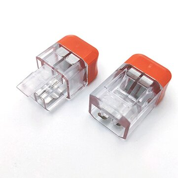 LT-22 2 Pin Transparent Quick Wire Connector Universal Compact Electrical