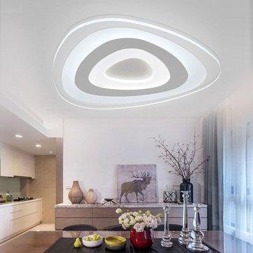 35W Modern Ultrathin LED Flush Mount Ceiling Light 3 Color Adjustable for Living Room Home