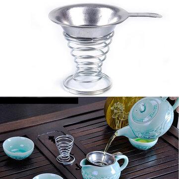 Stainless Steel Tea Filter Tea Strainer Spring Tea Stainer Holder Kung Fu Tea Accessaries