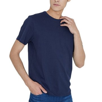 Mens Cotton T-Shirts Breathable Quick-Dry Casual Sports Fitness Walking Short Sleeve T-Shirts From Xiaomi Youpin