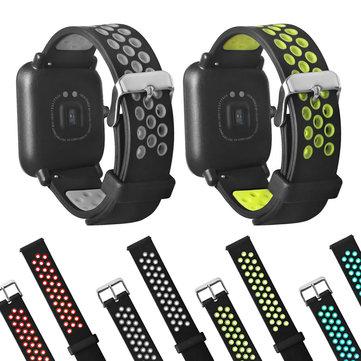 Huami Amazfit Bipのための20mmの二重色のシリコーンの交換腕時計バンドのストラップ