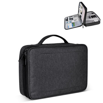 SM02 Nylon Waterproof Portable Multi-functional Laptop Storage Bag Electronic Accessories Travel Organizer Bag Data Cable Organizer