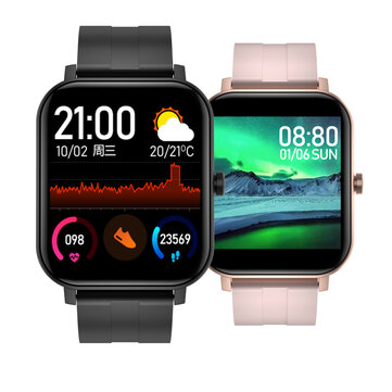 Bakeey F22 1.4 inch HD Screen Wristband SPO2 Heart Rate Blood Pressure Monitor Customized Dial Weather Display Smart Watch