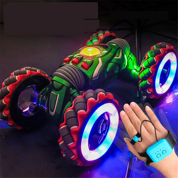 2.4G Gesture Sensor Twisted RC Stunt Car Light Music Remote Control Dancing Truck for Kids Toys Vehicles Model